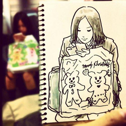 Забавные скетчи японского иллюстратора Hama-House (20 фото)