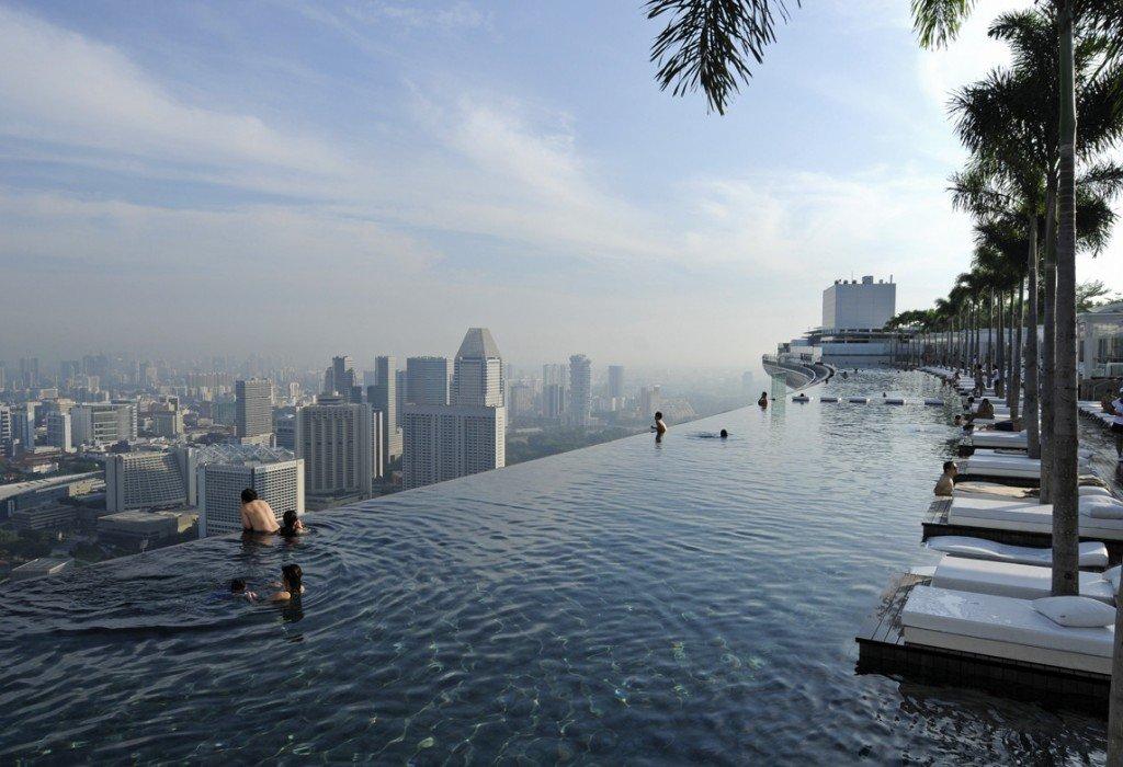 Крыша отеля в сингапуре