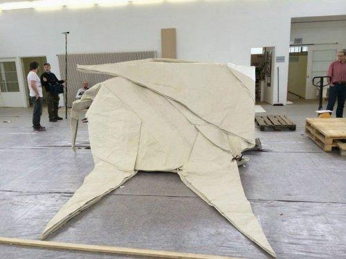 Слон в натуральную величину из одного листа бумаги (8 фото)