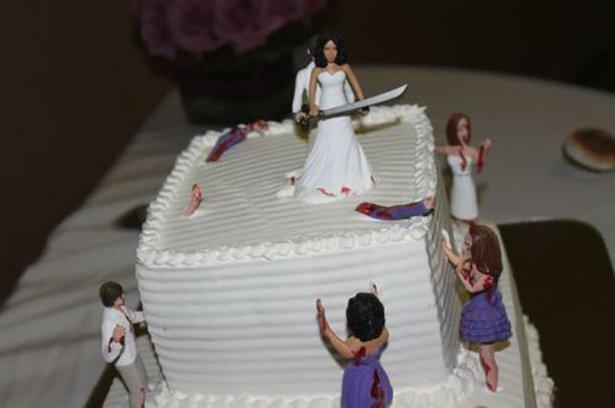 торты на свадьбу фото смешной