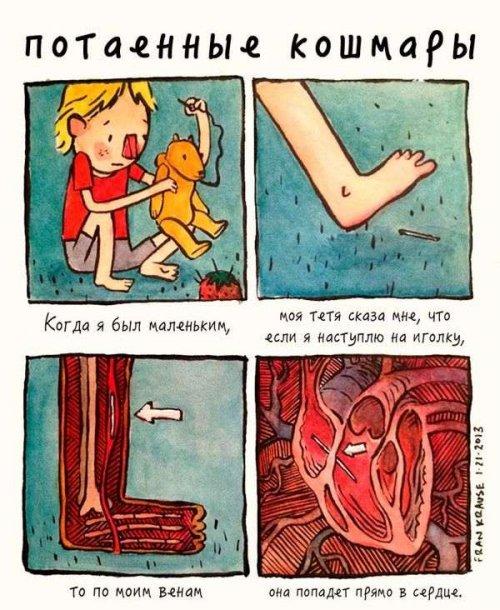 Потаённые кошмары в комиксах