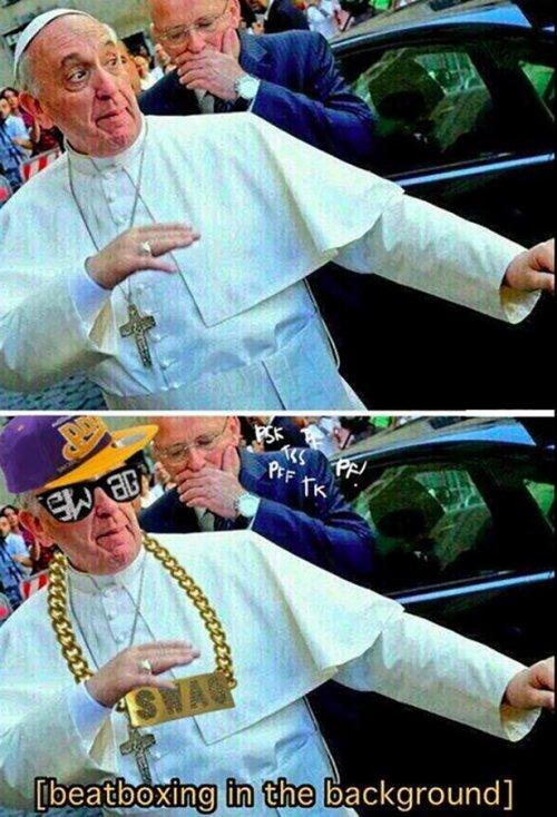 Поздравление, папа римский смешные картинки