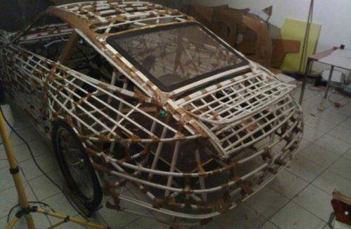 Картонная реплика Porsche (14 фото)