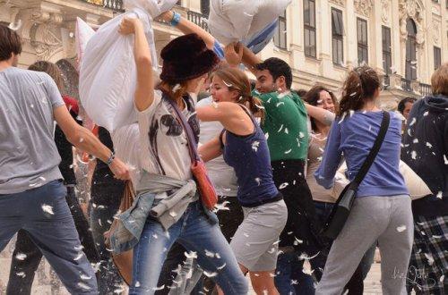 Международный день подушечного боя 2014 в разных странах (24 фото)
