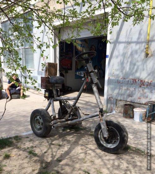 Огромный велосипед с музоном своими руками