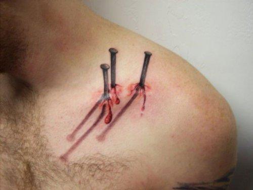 15 Невероятно прикольных 3D татуировок