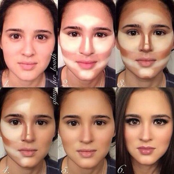 Как с помощью косметики изменить лицо