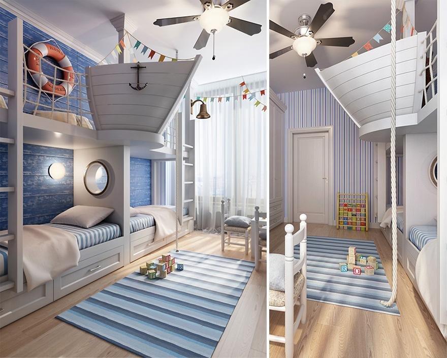 Красивые комнаты для мальчиков фото