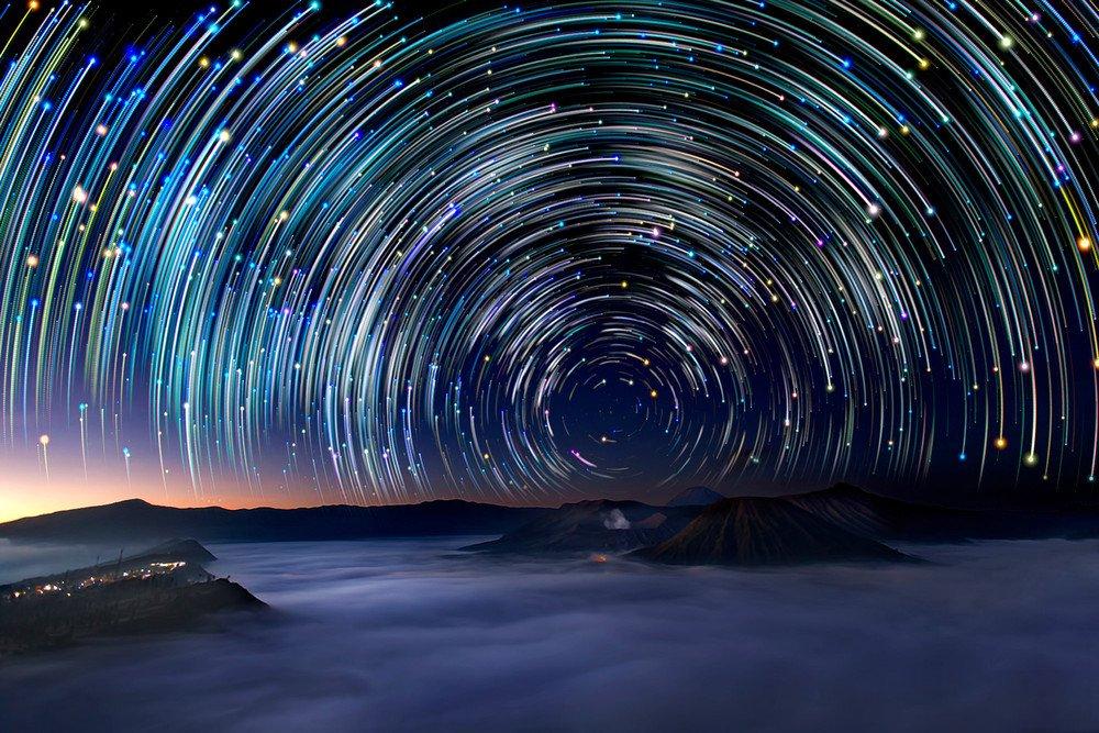 больших ночная фотосъемка звезд это живописное
