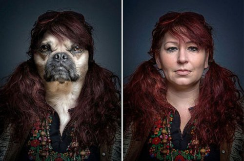 Люди со своими собаками в проекте Себастьяна Маньяни (7 фото)