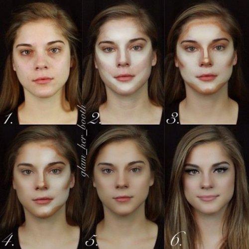 Невероятные преобразования с помощью макияжа (10 фото)