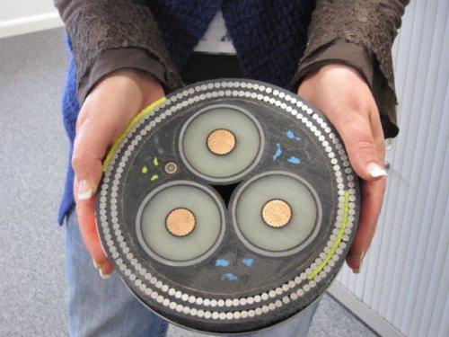 Массивный подводный кабель (7 фото)