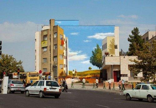 Удивительный стрит-арт иранского художника Мехди Гадианлу (19 фото)