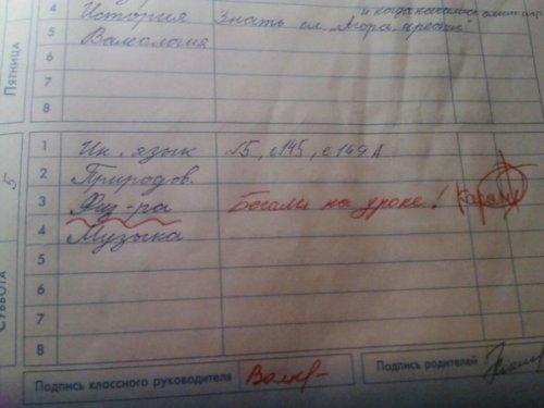 Смешные записи в школьных дневниках (13 фото)