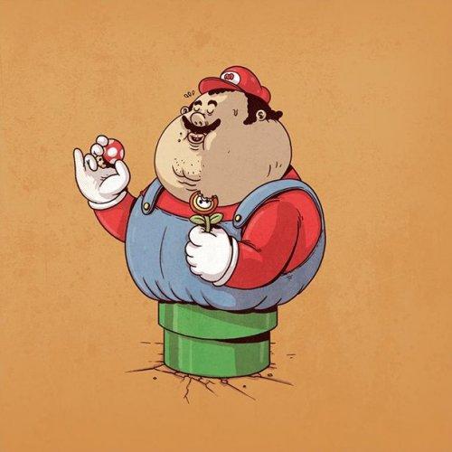 Если бы известные персонажи были толстяками (25 фото)