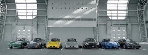 Happy Birthday to You в исполнении автомобилей Porsche 911