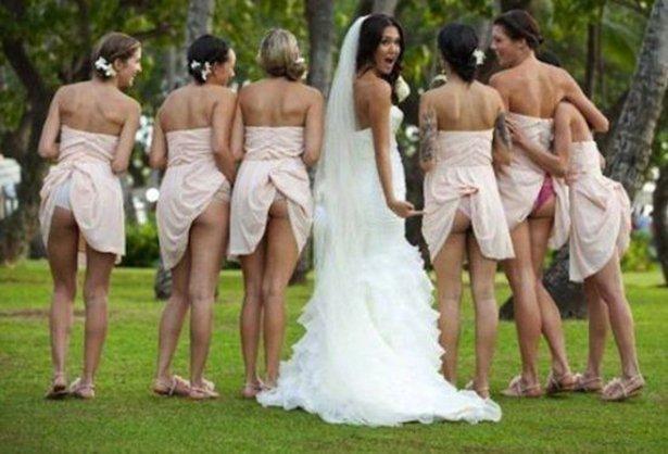 Смешные платья подружек невесты