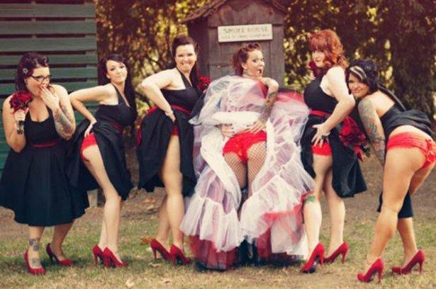 Задранное свадебное платье