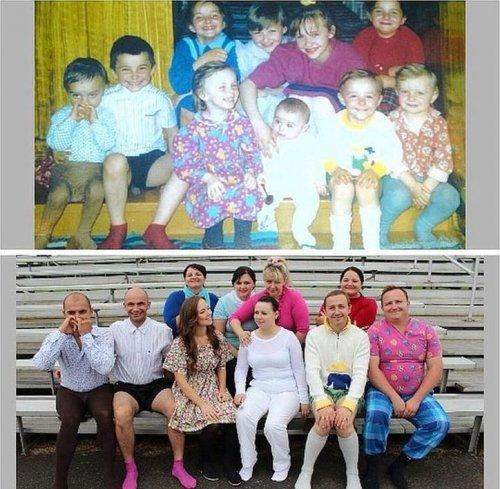 Сравнительные фотографии: из детства — в настоящее (17 шт)