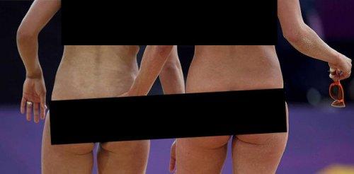 Спортивные фотографии после цензуры (9 фото)