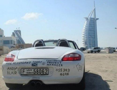 Дорогие автомобили, брошенные на улицах Дубая (30 фото)