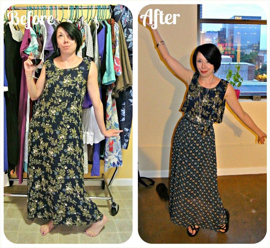 Как перешить из старого платья новое фото