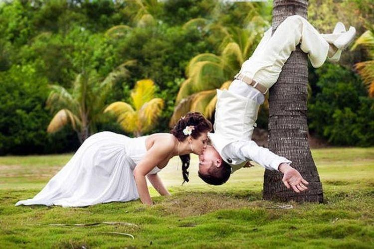 Необычный кадр фото пара
