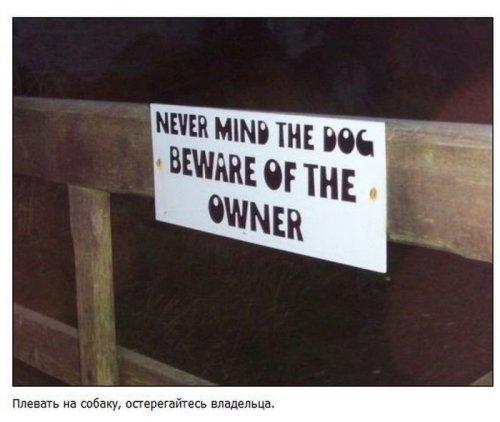 Смешные предупреждающие знаки (35 фото)