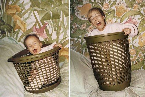 Сравнительные фотографии: из детства – в настоящее (22 фото)
