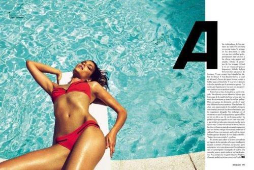 Ана Беатрис Баррос в летнем номере журнала GQ (Испания) (9 фото)