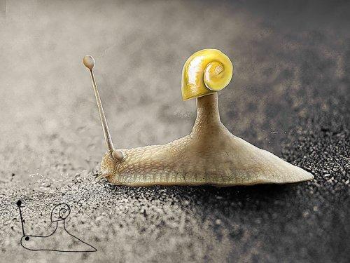 Художник воссоздаёт свои детские рисунки (10 фото)