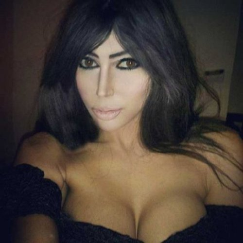 Клэр Лисон, изменившая внешность, чтобы стать похожей на Ким Кардашян (17 фото)
