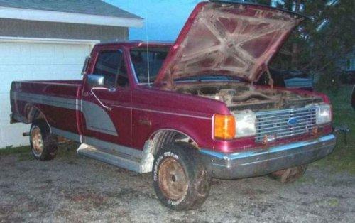 Старый грузовой пикап Ford F-150, переделанный в Hummer (23 фото)