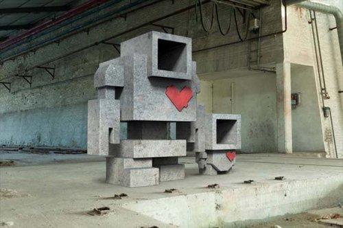 Скульптуры как одно из направлений уличного искусства (21 фото)