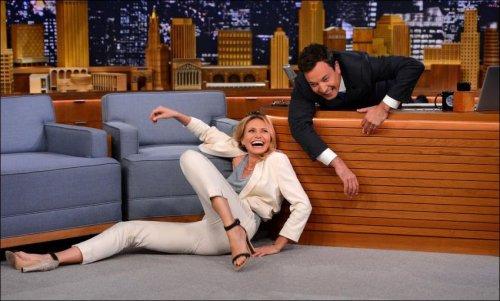 Фотожабы на Кэмерон Диаз в вечернем шоу Джимми Фэллона (22 фото)