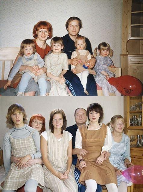 Фотографии с детства и сейчас