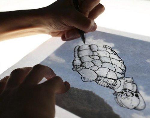 Облачные рисунки Мартина Фейхо (22 фото)