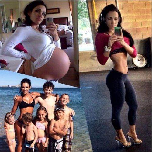 Мать шестерых детей с потрясающей фигурой (26 фото)