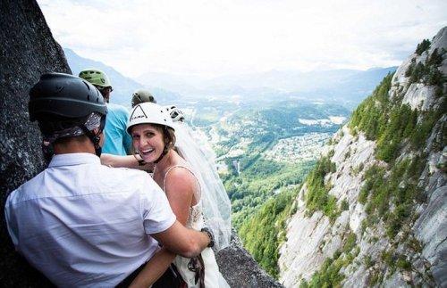 Свадьба на высоте (11 фото + видео)