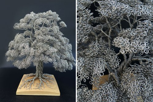 Завораживающие скульптуры деревьев из проволоки (10 фото)