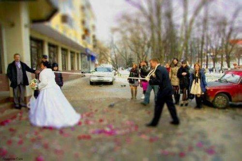 Забавные и странные свадебные снимки (24 шт)