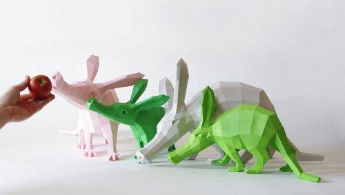 Геометрические бумажные скульптуры Вольфрама Кампфмейера (16 фото)