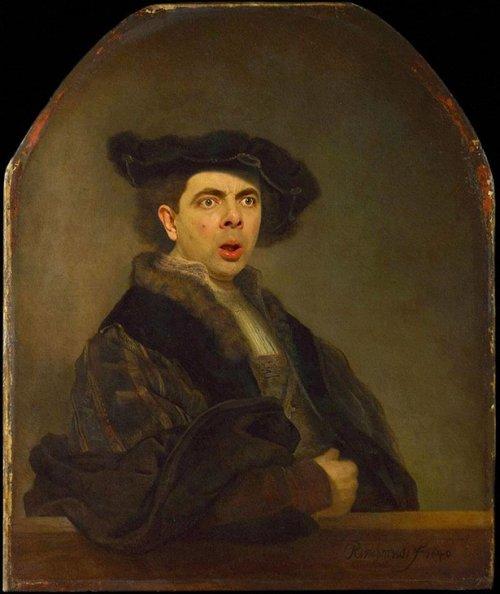 Роуэн Аткинсон на знаменитых картинах великих художников (16 фото)