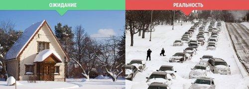 Зима: ожидания vs. реальность (14 фото)