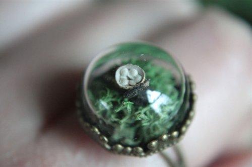 Кольца с декоративными стеклянными шарами (26 фото)