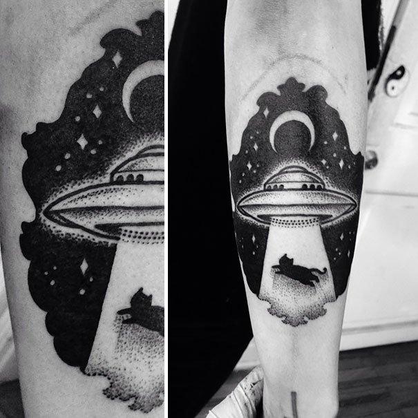 Фото татуировок на тему космос