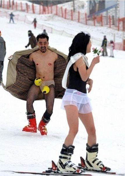 фото прикол лыжник