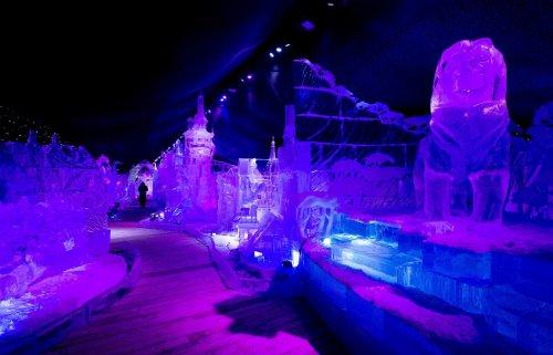 Сказочные ледяные скульптуры на фестивале в Антверпене (12 фото)