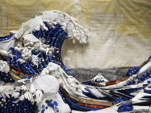 Потрясающие анаморфные инсталляции Бернара Пра (16 фото)