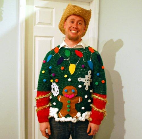 Самые уродливые свитеры к Новому году (17 фото)